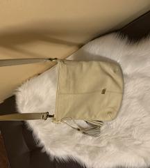 Mona kozna torba krem