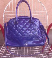 NOVA plava lakovana torba