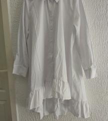 L bela kosulja haljina NOVO