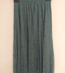 Nova mint suknja od cipke