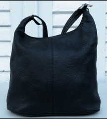 Prelepa Crna kožna torba