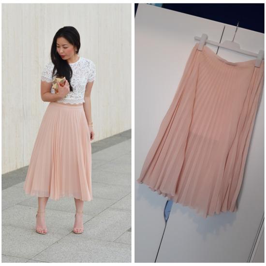 Bershka plise suknja