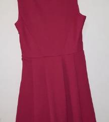 Roza haljina na faltne