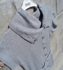 Sivi džemper tunika