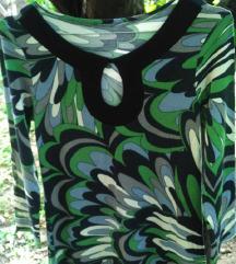 Pamucna  rastegljiva haljina-tunika za trudnice