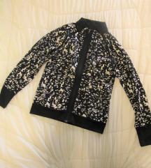 167. Crno beli kratak prelep duks majica