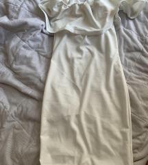 Bela haljina sa karnerima NOVA