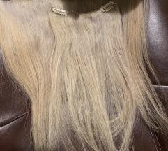 Prirodna kosa na klipse nadogradnja
