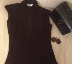 Braon bluza bez rukava