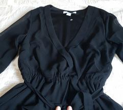 Crna elegantna bluza S! SNIZENA!!!