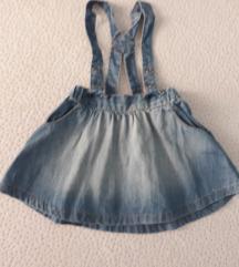 dzins suknjica H&M/74