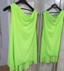 Neon zelena haljina