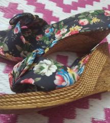 Vintage papuče na punu petu