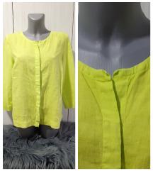 Neon zelena bluza lanena