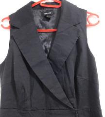 Crna haljina bez rukava - M