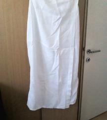 Bela Sisley lanena suknja