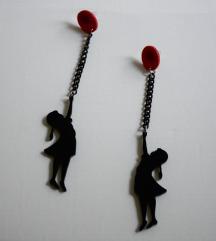 Banksy minđuše - devojčica s balonom