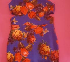 Haljina cvetna mastilo plava 1000 snizenoo