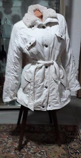 Bela duža jakna vel L
