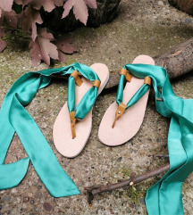 Kožne sandale na vezivanje-razne boje