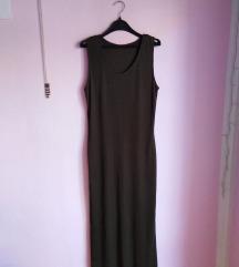 maslinasta haljina maxi M,L