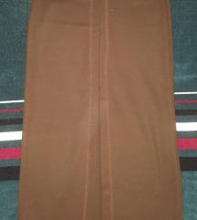 Dugacka braon suknja