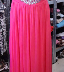 Dugacka roze-pink haljina