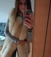 Duzi prsluk Pravo Krzno polarne lisice