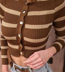 Braon/krem knit top NOV