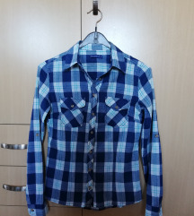 Plava karirana košulja od pamuka