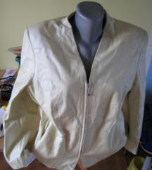 Biserna kožna jakna vel. XL