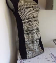 Wear On crna sa  belim haljina M/L