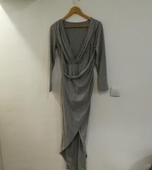 asimetricna siva haljina
