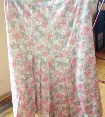 Šarena zvonasta vintage suknja 40