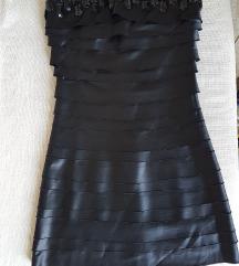 Crna satenska haljina *NOVO*