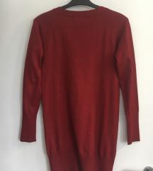 ZARA bordo džemper