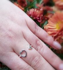 Prsten 925 17.5 mm podesiv
