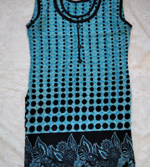 Plava indijska tunika bez rukava
