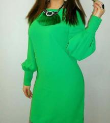 H&M zelena haljina