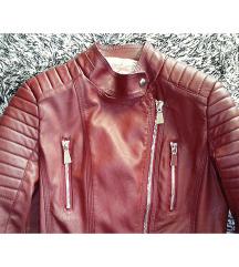 Nova crvena kozna jakna M/L