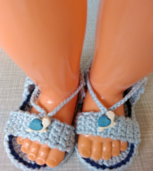 sandalice za novorodjece 0-3meseca,NOVO ,rucni rad