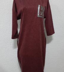 Bordo-ljubicasta tunika haljina NOVO L-XL