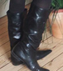 Lavorazione Artigiana crne kozne cizme