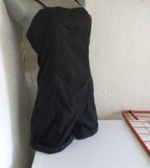 Crni kombinezon na bretele S/M