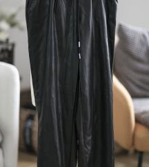 Baggy faux leather pantalone HM