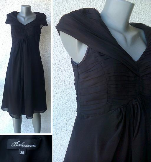 crna elegantna haljina broj 38 BALASEVIC