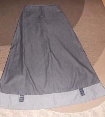 suknja siva duga