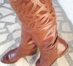 ❄SNIZENO Vintage kožne italijanske čizme