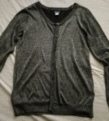 Novo,džemper tanak srebrni