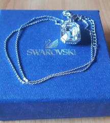 Swarovski ogrlica sa velikim bezbojnim kristalom